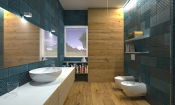 Folk rombetto bianco Classic Bathroom Acquario Due
