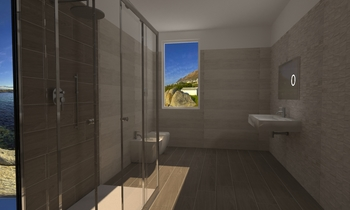 bagno grande Contemporary Bathroom Lo Presti casa arredo