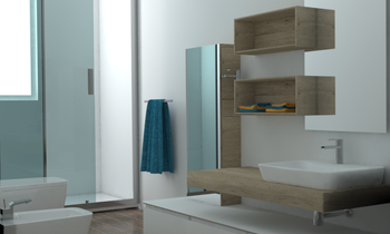 Piano terzo bagno con fin... Contemporary Bathroom cortese simone