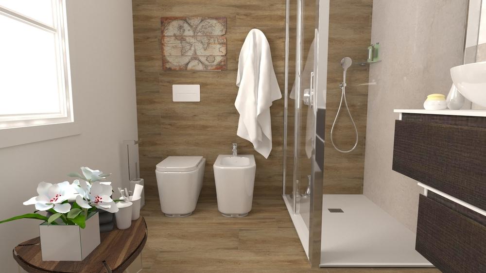 Poject Tuscania Noce Classique Salle de bain EDILVETTA Professionisti dell'abitare