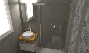 231 Contemporary Bathroom LONGO SRL Superfici & Arredo