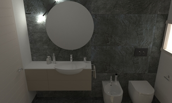 232 Contemporary Bathroom LONGO SRL Superfici & Arredo