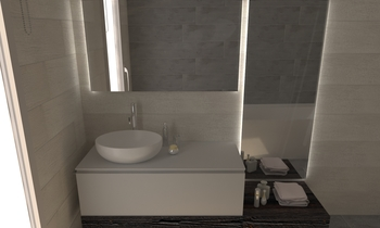 233 Contemporary Bathroom LONGO SRL Superfici & Arredo