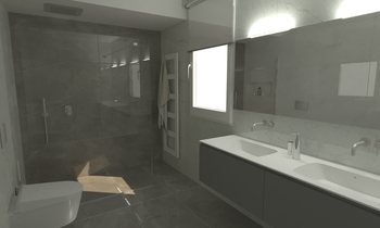 234 Contemporary Bathroom LONGO SRL Superfici & Arredo