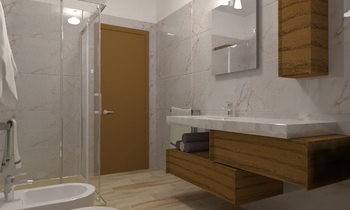 marmo golden white Classic Bathroom matteo ceciarini