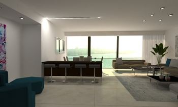 DEMCO APARTMENT Modern Living room Natuzzi Beirut
