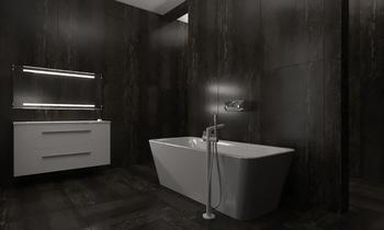 mm/villa 3 master bedroom... Модерн Ванная Zarrugh Company
