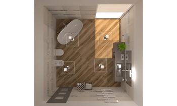 BAGNO RESIDENZIALE Moderní Koupelna Roberto Laganaro