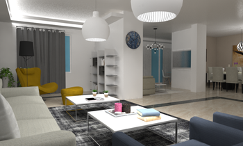 Project #5 Modern Living room Ramez  Saad