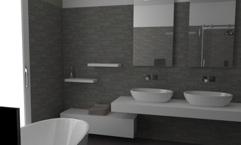 soft concrete Classic Bathroom SHOW TILE