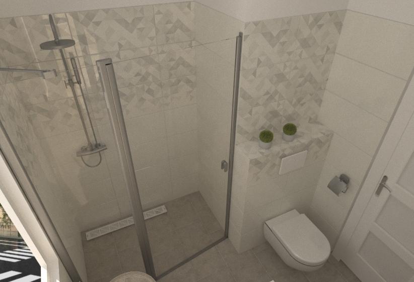 Kis fürdő zuhanykabinnal ... Moderní Koupelna Katinka Veress