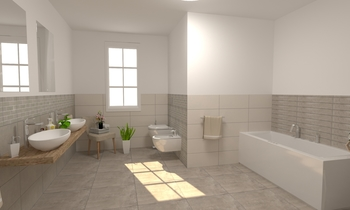Project GRIS NAXOS Modern Bathroom EDILVETTA Professionisti dell'abitare