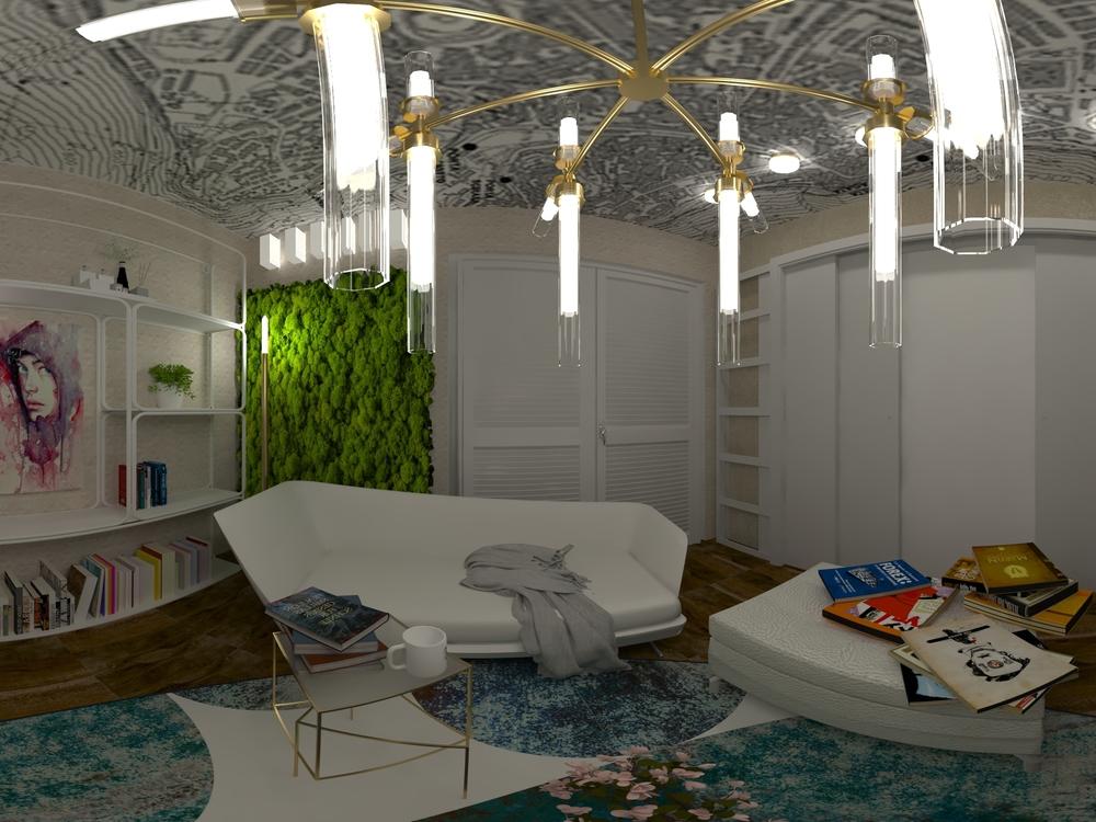Maria_living room Contemporary Living room Iliana Ovtcharova
