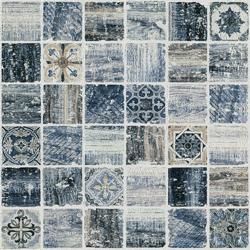 Florence Blue 30x30 30x30 cm Boxer Mosaics Marble