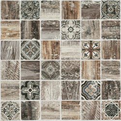Florence Brown 30x30 30x30 cm Boxer Mosaics Marble