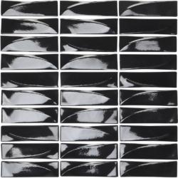 Velvet Nero  30x31,8 30x31.8 cm Boxer Mosaics Glass
