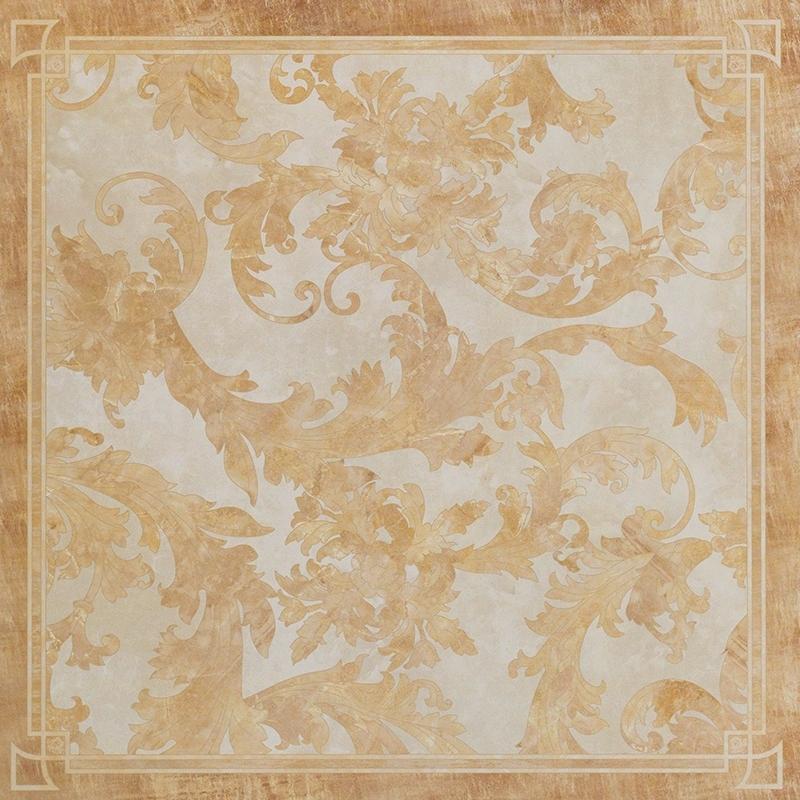 Floor decor pavimento decorato cassettonato foglia for Pavimento versace
