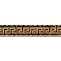 Versace ceramics collezione marble bianco fascia patchwork bianco fascia greca nero profilo - Stock piastrelle versace ...