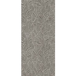 DECORO FOGLIE GREY GRAFITE SOFT 120X270 120x270 cm Ariana Nobile