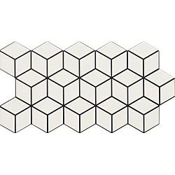 RHOMBUS SNOW 26.5X51*A พื้น 55,5x29 cm Boonthavorn Ceramic Gelato