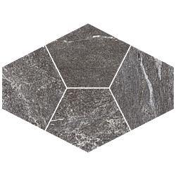 Mosaico Diamante Grafite 39x28 cm Herberia Vals