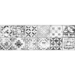 Decor Patchwork 25x75 75.5x25.5 cm Ceramica Fiore White