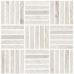 Oaks White Mosaic 2X10 30x30 cm Edimax Astor Oaks