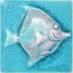 ปลาเทวดา หันขวา/ฟ้าใส 4X4 *A 10x10 cm Boonthavorn Ceramic นครไทย