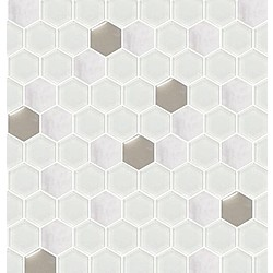 โมเสคแก้ว ไทนี่ เฮกซากอน #1 12X12 A* 30x30 cm Boonthavorn Ceramic Glascera