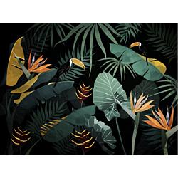 Jungle dream black 160x270 cm Officinarkitettura Jungle dream black