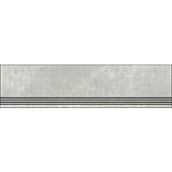 Step With Grooves Chalky Grey Natural 120x30 cm Porcelaingres Mile Stone