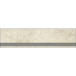 Step With Grooves Faded Beige Natural 120x30 cm Porcelaingres Mile Stone