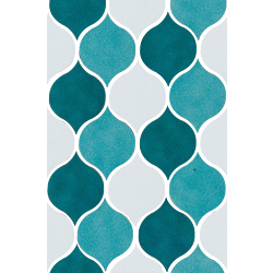 Sardinia Mosaico Goccia mix Mix Verde 20.5x31.9 cm Cerasarda Sardinia