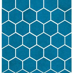 Sardinia Mosaico Esagona Azzurro Mare 27x28 cm Cerasarda Sardinia