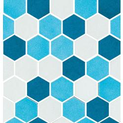 Sardinia Mosaico Esagona mix Mix Azzurro 27x28 cm Cerasarda Sardinia
