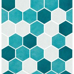 Sardinia Mosaico Esagona mix Mix Verde 27x28 cm Cerasarda Sardinia