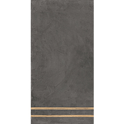 Sfrido 2 Lines Cemento4 Nero 120x60 cm Ceramica Fioranese Sfrido