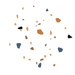 TERRAZZO HEX WHITE (23PD008) 20X23*A 23x20 cm Boonthavorn Ceramic Gelato