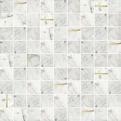 โมเสคแก้ว ลักซ์ มาร์เบิลไวท์ # 1 12X12*A 30x30 cm Boonthavorn Ceramic Glascera