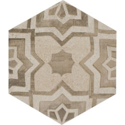 Clays Esagona Decoro Earth Sand Shell 18.2x21 cm Marazzi Clays
