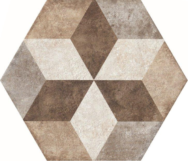Decor Exagona Texture4 34,5X40 - Collection Heritage by