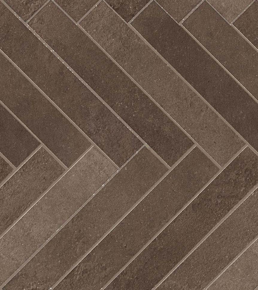 Brown Leather Herringbone Collection