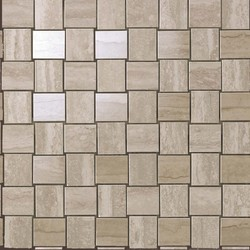 Marvel  Travertino Silver Net Mosaic 30.5x30.5 cm Atlas Concorde Marvel Pro