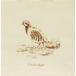 Partridge Sepia On Papyrus 13x13 cm The Winchester Tile Company Residence
