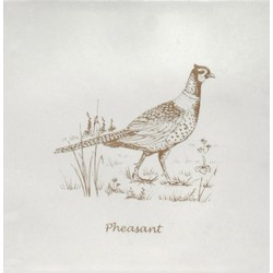 Pheasant Sepia On Papyrus 13x13 cm The Winchester Tile Company Residence