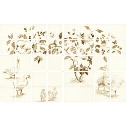 Sepia Elders 6 Tile Panel 12.7x12.7 cm The Winchester Tile Company Classic