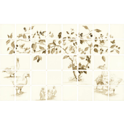 Sepia Goslings 2 Tile Panel 12.7x12.7 cm The Winchester Tile Company Classic