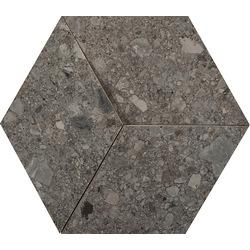 Ceppo Di Gre' Mosaico 3D Antracite M0KK 33.5x29 cm Marazzi Mystone - Ceppo di Gré