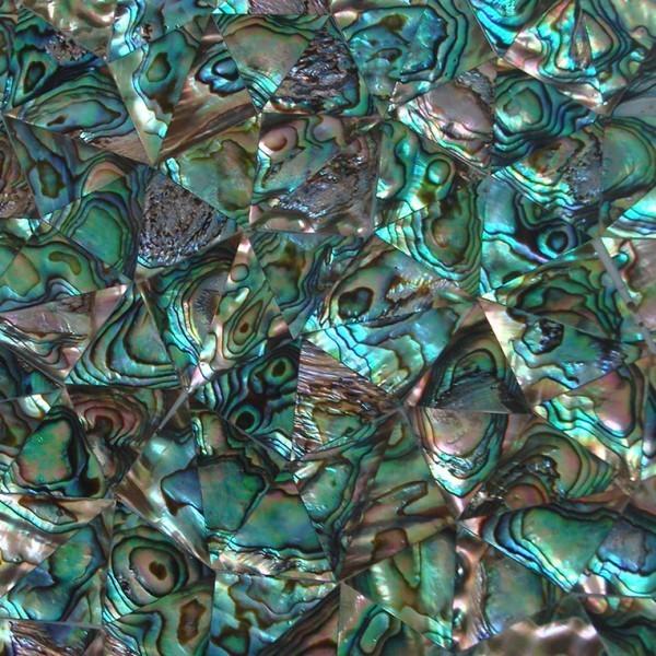 Paua Mother Of Pearl Shell Triangle Random Pattern