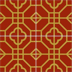 RED SHR3-1 12X12 *A 30x30 cm Boonthavorn Ceramic Imex
